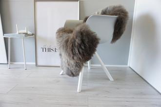 Genuine - Rare Breed Scandinavian Pelssau Sheepskin Rug - Extremely Soft Silky Wool - Silver | Grey | Ash | Brown Mix - SS 143