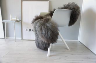 Genuine - Rare Breed Scandinavian Pelssau Sheepskin Rug - Extremely Soft Silky Wool - Silver | Grey | Ash | Brown Mix - SS 146