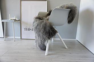 Genuine - Rare Breed Scandinavian Pelssau Sheepskin Rug - Extremely Soft Silky Wool - Silver | Grey | Ash | Brown Mix - SS 148