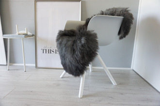 Genuine - Rare Breed Scandinavian Pelssau Sheepskin Rug - Extremely Soft Silky Wool - Silver | Grey | Ash | Brown Mix - SS 149
