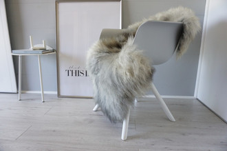 Genuine - Rare Breed Scandinavian Pelssau Sheepskin Rug - Extremely Soft Silky Wool - Silver | Grey | Ash | Brown Mix - SS 153