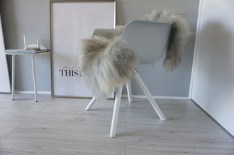 Genuine - Rare Breed Scandinavian Pelssau Sheepskin Rug - Extremely Soft Silky Wool - Silver | Grey | Ash | Brown Mix - SS 154