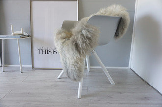Genuine - Rare Breed Scandinavian Pelssau Sheepskin Rug - Extremely Soft Silky Wool - Silver | Grey | Ash | Brown Mix - SS 155