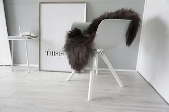 Genuine - Rare Breed Scandinavian Pelssau Sheepskin Rug - Extremely Soft Silky Wool - Silver | Grey | Ash | Brown Mix - SS 159