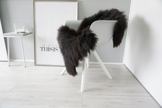 Genuine - Rare Breed Scandinavian Pelssau Sheepskin Rug - Extremely Soft Silky Wool - Silver | Grey | Ash | Brown Mix - SS 162