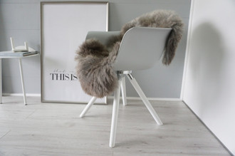 Genuine - Rare Breed Scandinavian Pelssau Sheepskin Rug - Extremely Soft Silky Wool - Silver | Grey | Ash | Brown Mix - SS 166