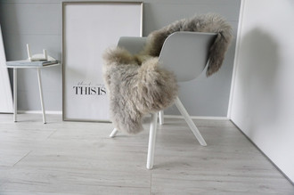 Genuine - Rare Breed Scandinavian Pelssau Sheepskin Rug - Extremely Soft Silky Wool - Silver | Grey | Ash | Brown Mix - SS 169