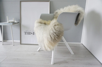 Genuine - Rare Breed Scandinavian Pelssau Sheepskin Rug - Extremely Soft Silky Wool - Silver | Grey | Ash | Brown Mix - SS 175
