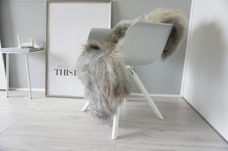 Genuine - Rare Breed Scandinavian Pelssau Sheepskin Rug - Extremely Soft Silky Wool - Silver | Grey | Ash | Brown Mix - SS 201