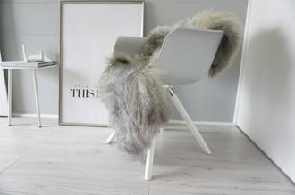 Genuine - Rare Breed Scandinavian Pelssau Sheepskin Rug - Extremely Soft Silky Wool - Silver | Grey | Ash | Brown Mix - SS 201