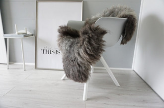 Genuine - Rare Breed Scandinavian Pelssau Sheepskin Rug - Extremely Soft Silky Wool - Silver | Grey | Ash | Brown Mix - SS 202