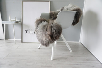 Genuine - Rare Breed Scandinavian Pelssau Sheepskin Rug - Extremely Soft Silky Wool - Silver | Grey | Ash | Brown Mix - SS 207
