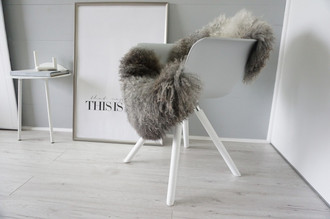 Genuine - Rare Breed Scandinavian Pelssau Sheepskin Rug - Extremely Soft Silky Wool - Silver | Grey | Ash | Brown Mix - SS 211