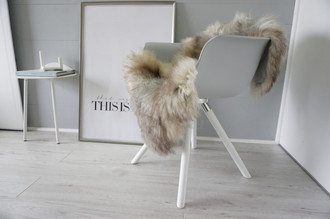 Genuine - Rare Breed Scandinavian Pelssau Sheepskin Rug - Extremely Soft Silky Wool - Silver | Grey | Ash | Brown Mix - SS 212