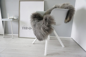 Genuine - Rare Breed Scandinavian Pelssau Sheepskin Rug - Extremely Soft Silky Wool - Silver | Grey | Ash | Brown Mix - SS 215