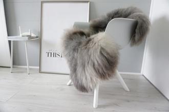 Genuine - Rare Breed Scandinavian Pelssau Sheepskin Rug - Extremely Soft Silky Wool - Silver | Grey | Ash | Brown Mix - SS 216