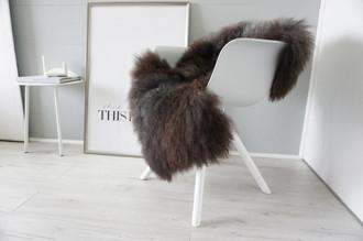 Genuine - Rare Breed Scandinavian Pelssau Sheepskin Rug - Extremely Soft Silky Wool - Silver | Grey | Ash | Brown Mix - SS 219
