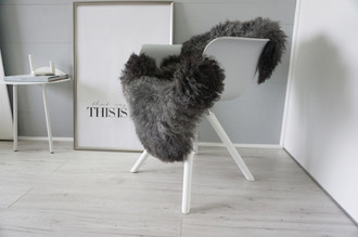 Genuine - Rare Breed Scandinavian Pelssau Sheepskin Rug - Extremely Soft Silky Wool - Silver | Grey | Ash | Brown Mix - SS 226