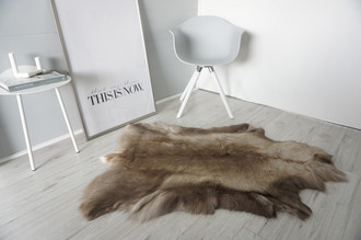 Genuine Super Soft - Extra Large Scandinavian Reindeer Skin Rug  RE 386