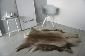 Genuine Super Soft - Extra Large Scandinavian Reindeer Skin Rug  RE 388