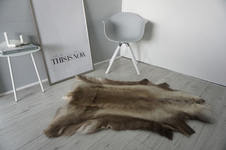 Genuine Super Soft - Extra Large Scandinavian Reindeer Skin Rug  RE 390