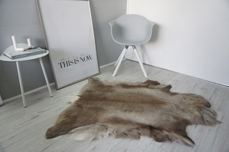 Genuine Super Soft - Extra Large Scandinavian Reindeer Skin Rug  RE 393
