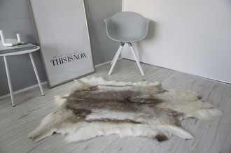 Genuine Super Soft - Extra Large Scandinavian Reindeer Skin Rug  RE 396