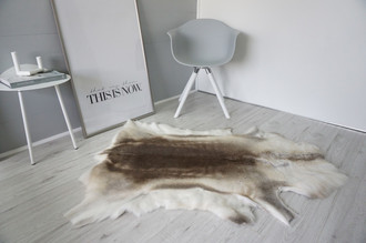 Genuine Super Soft - Extra Large Scandinavian Reindeer Skin Rug  RE 398