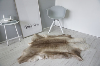 Genuine Super Soft - Extra Large Scandinavian Reindeer Skin Rug  RE 400