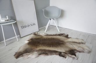 Genuine Super Soft - Extra Large Scandinavian Reindeer Skin Rug  RE 401