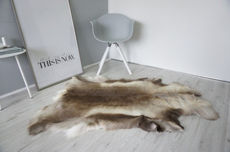 Genuine Super Soft - Extra Large Scandinavian Reindeer Skin Rug  RE 402