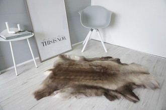 Genuine Super Soft - Extra Large Scandinavian Reindeer Skin Rug  RE 406