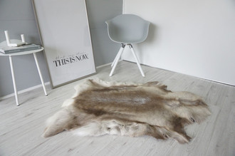 Genuine Super Soft - Extra Large Scandinavian Reindeer Skin Rug  RE 407