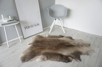 Genuine Super Soft - Extra Large Scandinavian Reindeer Skin Rug  RE 408