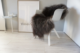 Genuine Icelandic Sheepskin Rug - Grey Silver Mix - Super Soft Touch Long Wool - SI 446
