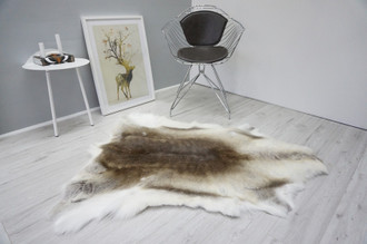 Genuine Premium Quality Super Soft - Extra Large Scandinavian Reindeer Caribou Skin | Rug | Hide | Pelt - RE 427