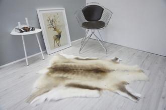 Genuine Premium Quality Super Soft - Extra Large Scandinavian Reindeer Caribou Skin | Rug | Hide | Pelt - RE 428