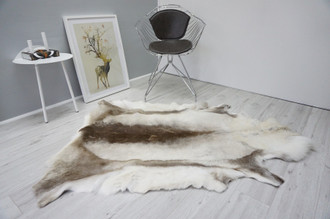Genuine Premium Quality Super Soft - Extra Large Scandinavian Reindeer Skin | Rug | Hide | Pelt - Genuine Premium Quality Super Soft - Extra Large Scandinavian Reindeer Skin | Rug | Hide | Pelt - RE 431