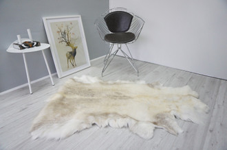 Genuine Premium Quality Super Soft - Extra Large Scandinavian Reindeer Skin | Rug | Hide | Pelt - RE 436