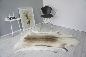 Genuine Premium Quality Super Soft - Extra Large Scandinavian Reindeer Skin | Rug | Hide | Pelt -RE 443