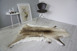 Genuine Premium Quality Super Soft - Extra Large Scandinavian Reindeer Skin | Rug | Hide | Pelt - RE 463