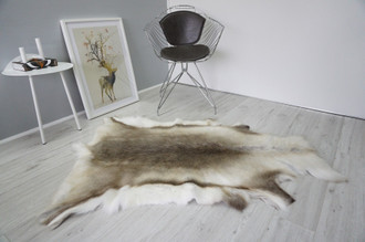 Genuine Premium Quality Super Soft - Extra Large Scandinavian Reindeer Skin | Rug | Hide | Pelt - RE 467