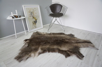 Genuine Premium Quality Super Soft - Extra Large Scandinavian Reindeer Skin | Rug | Hide | Pelt - RE 469