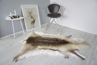 Genuine Premium Quality Super Soft - Extra Large Scandinavian Reindeer Skin   Rug   Hide   Pelt - RE 473
