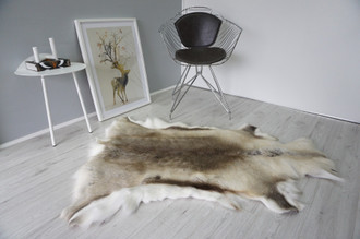 Genuine Premium Quality Super Soft - Extra Large Scandinavian Reindeer Skin | Rug | Hide | Pelt - RE 480