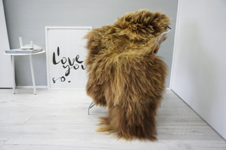 Genuine Icelandic Sheepskin Rug | Sheepskin Rug | Sheepskin Hide | Icelandic Sheepskin | Long Wool Rug | Natural Colour | Rare Breed SI 476