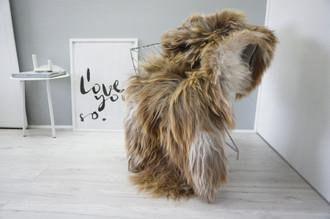Genuine Icelandic Sheepskin Rug | Sheepskin Rug | Sheepskin Hide | Icelandic Sheepskin | Long Wool Rug | Natural Colour | Rare Breed SI 485