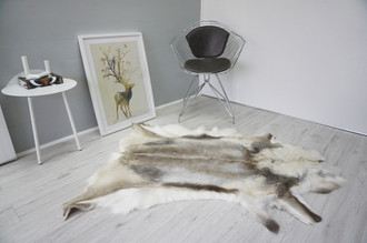 Genuine Scandinavian Reindeer Pelt Rug  Hide | Animal Decor RE 501