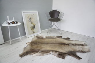 Genuine Scandinavian Reindeer Pelt Rug  Hide | Animal Decor RE 514