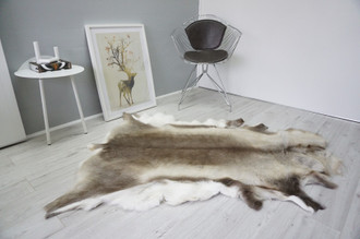 Genuine Scandinavian Reindeer Pelt Rug  Hide | Animal Decor RE 519